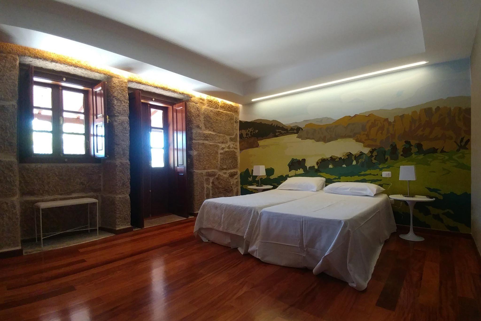 reforma integral del interiorismo de un pazo tradicional gallego Ribadavia Ourense
