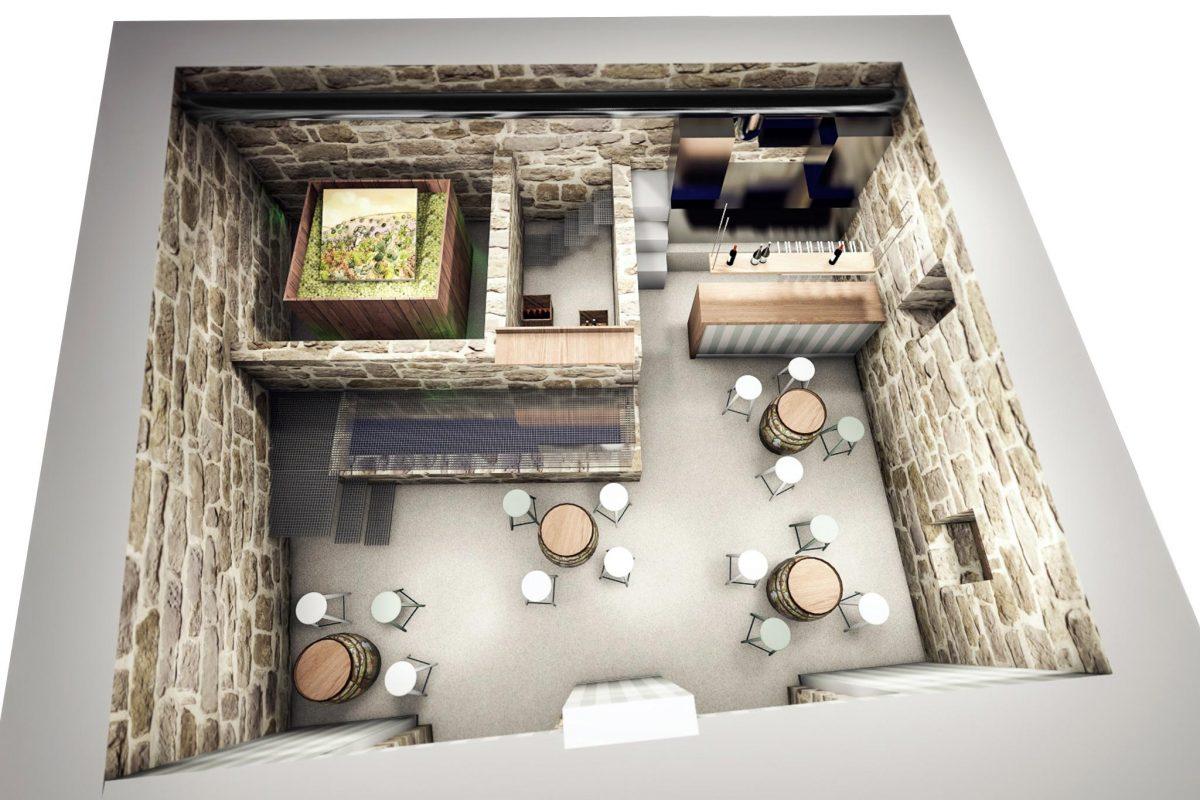 vista diseño bar Ribadavia Ourense
